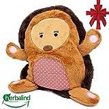Kuscheltier Igel Wärmekissen niedlichesTraubenkernkissen für Baby und Kleinkind und Kinder, Maße 25 x 21 cm als Wärmeflasche, Stofftier, warmes Körnerkissen, Plüschtier Design Igel (Igel)