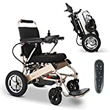 2021 New Folding Ultra Lightweight Electric Power Wheelchair, Silla de Ruedas Electrica, Airline Approved and Air Travel Allowed, Heavy Duty, Mobility Motorized, Portable Power