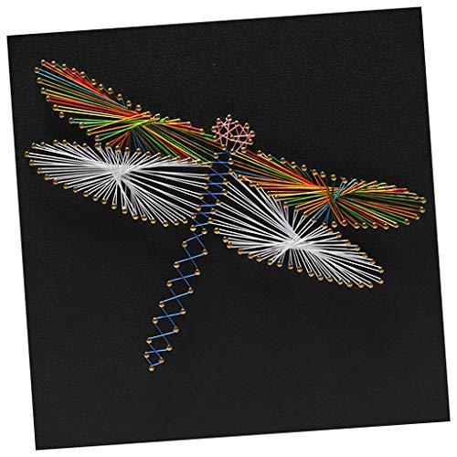 chiwanji Multi-Styles String Art Kit con Strumenti di Base per Adulti Bambini Principianti Artigianato Fai da Te - Artigianato
