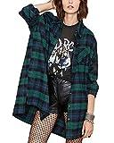 Zanzea Street Fashion Flannel Plaid Shirt Buffalo for Women Long Sleeve Button Down Tops Blouses with Pocket Green US 6