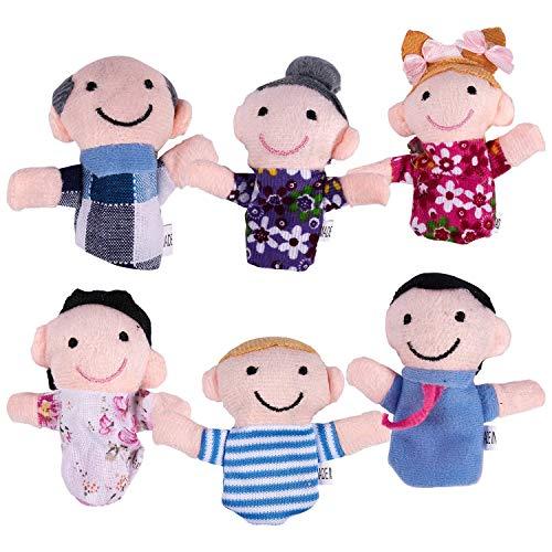 Haude Juego 6 Marionetas Dedo - Familiares Incluyen