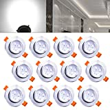 Hengda® Foco empotrable ojo de buey bajo consumo   De Comedor, de Baño, de Pasillo Bóveda   Redondo Aluminio mate niquel Aluminio satinado   Luz agradable Diseño original...