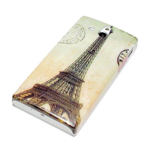 deinPhone Torre Eiffel Cover Rigida per Sony Xperia U–Parigi