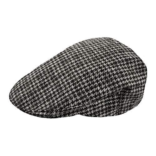 TOSKATOK® Herren Schirmmütze Kariert Wollmischung Tweedkappe Flach