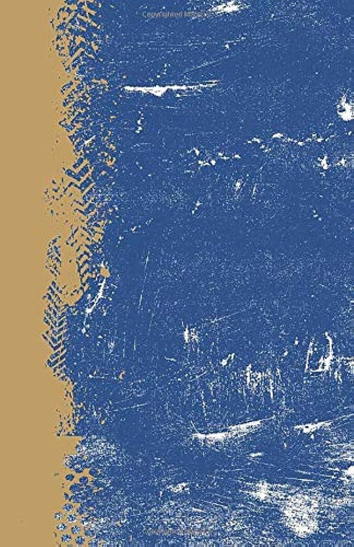 機動ジム赤ちゃんRoyal Blue And Gold: (5.5 x 8.5 Dot Grid) Blank Journal Grunge Team Color Notebook