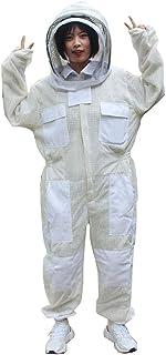 Hxf254362 Imkeranzüge für Erwachsene, 3 Lagen, ultra belüftet, Sicherheits-Schutz, Unisex, weißes Stoffgewebe, Imkerzucht, Imker-Anzug, baumwolle, xxl