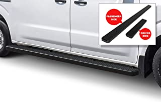 APS iBoard Running Boards (Nerf Bars Side Steps Step Bars) Compatible with 2012-2020 Nissan NV 1500 2500 3500 Full Size Van (Black Powder Coated 5 inches)
