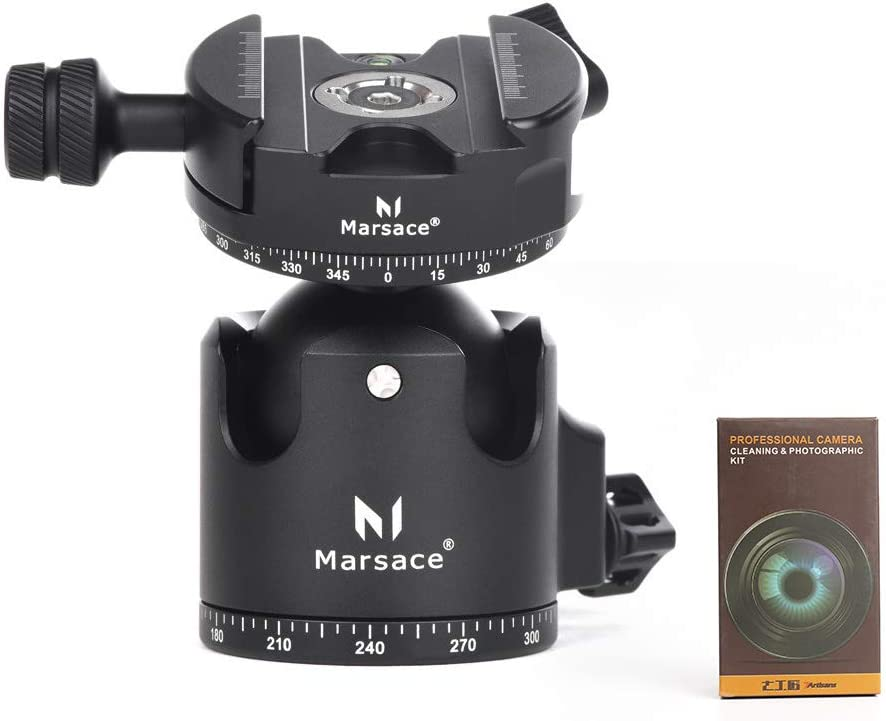 Marsace FB-2R Tripod Ball Max 59% OFF Head 30kg Finally popular brand 66.2lbs 360 Capacity Loading