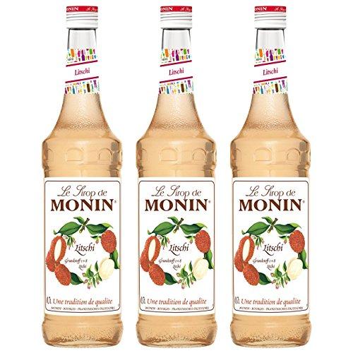 Monin Sirup Litschi, 0,7L 3er Pack