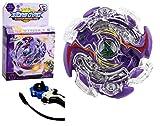 ML 1 Juego de peonza Estilo Bey Burst Blade con Lanzador de Mano peonza Juguete con Lanzador de Mano Espada Bey (Lila)