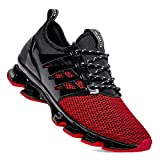 TSIODFO Sneakers for Men Sport Running Shoes Athletic Tennis Walking Shoes Fashion Jogging Sneaker Black red Youth Boys Size 7
