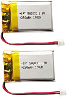 BrightTea 3.7V 250mAh Battery Lithium Ion Polymer Battery Rechargeable Battery Li-ion Li-Po