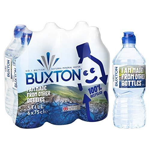 Buxton Nog natuurlijk mineraal water sport Cap 6x750ml