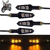 Ramanta 12V Amber LED Flexible Non Breakable Motorcycle Bike Turn Signal Indicators Light Turning...
