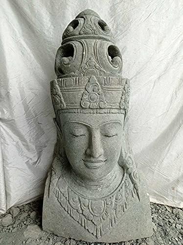 wanda collection Statue Buste déesse balinaise en Pierre volcanique 120 cm