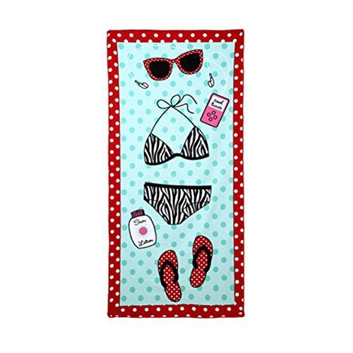 TTD toalla de playa de diseño personalizado creativo para adultos niños 70X150 cm ideal para nadar viajes de yoga deportes acampar tumbona baño toalla de ducha