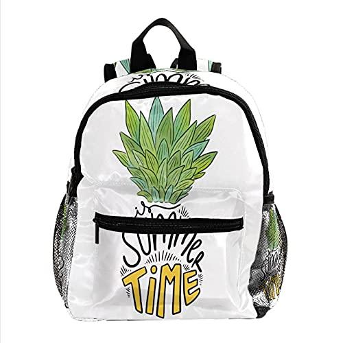 Mochila de palmeras tropicales de piña pequeña para estudiantes de la escuela primaria, 12 pulgadas, Multicolor 10,
