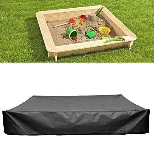 Baogu Schwarz Staubdichte wasserdichte Sandkasten-Abdeckung mit Kordelzug für Sandkasten Pools Gartensaunas Whirlpools 150x150x20cm