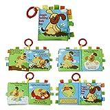 Juguetes Bebes 1 Año Rompecabezas de Animales Paño Libro Juguete de Bebe Paño Desarrollo Sonar Libros Juguete Preescolar