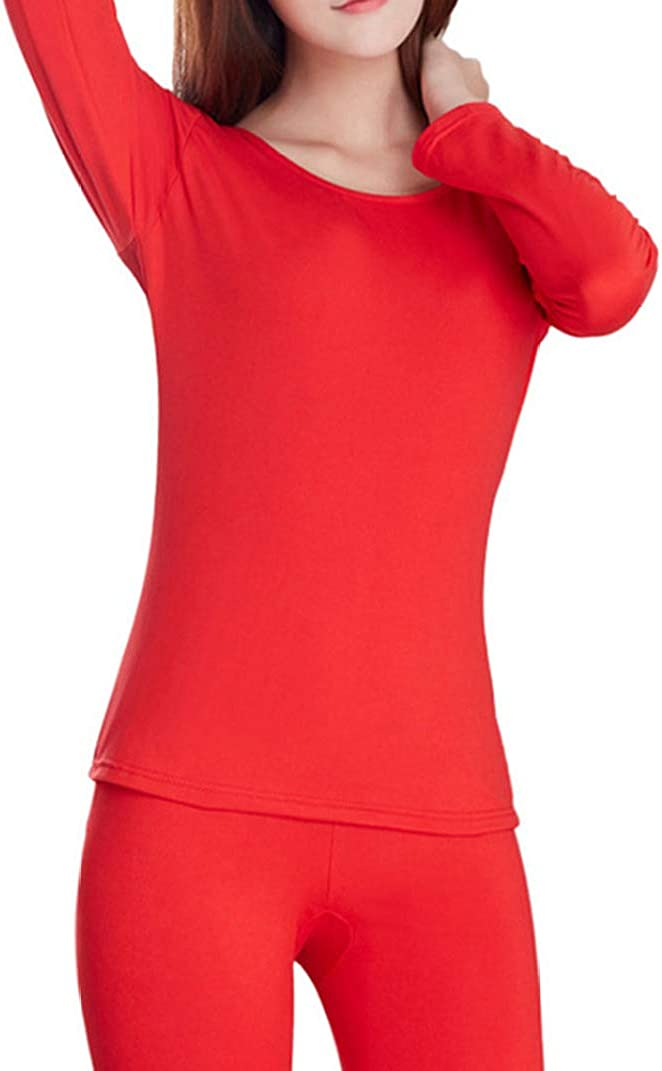 Thermal Underwear for Women Fleece Lined Thermals Ultra Soft Base Layer Long John Set