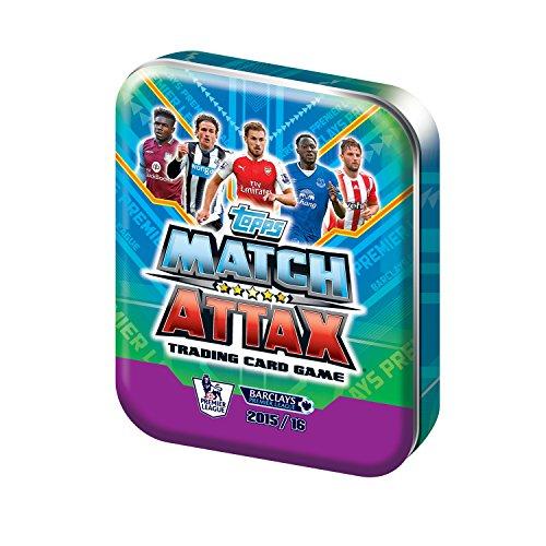 Topps match Attax 2015 2016 Collector Tin (contient 50 cartes aléatoires + 1 limitée de cartes de l'édition (UK Version)