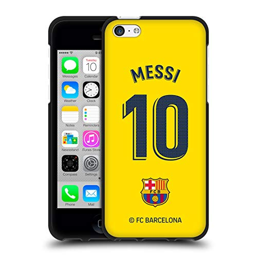 Head Case Designs Officially Licensed FC Barcelona Lionel Messi 2019/20 Players Away Kit Group 1 Black Soft Gel Case Compatible with Apple iPhone 5c