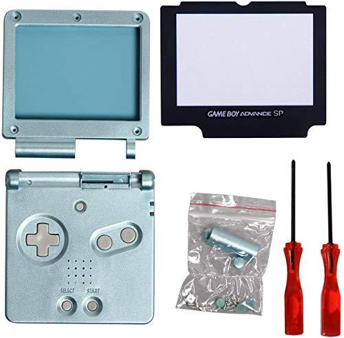 Timorn Écran Complet de logement Shell Case Cover + Protector Partie + Tri-Wing + Croix Tournevis réparation pour Gameboy Advance GBA (Light Blue Paquet)