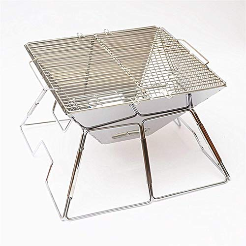 BBQ for Picnic Garden Terrace Camping Travel Outdoor Camping Mini Folding Barbecue Stainless Steel Charcoal BBQ Grill WTZ012