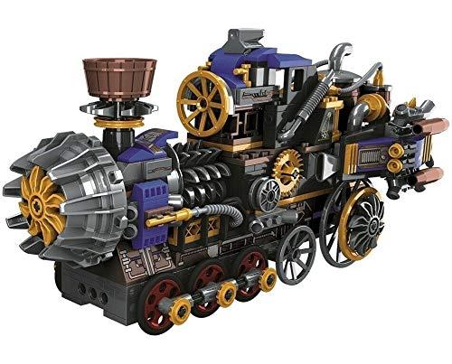 Rawikan 543pcs Creator Steam Train Age Building Block City Car DIY Ladrillo Toy (Compatible con Lego)