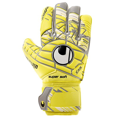 uhlsport Herren Eliminator Supersoft Torwart-Handschuhe, LITE Fluo gelb/Griffin gr, 9.0