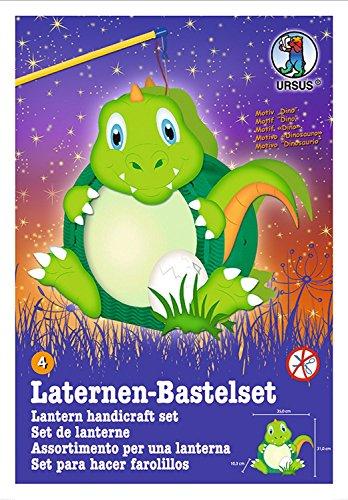 Ursus Laternen-Bastelset Easy Line (mit Laternenstab elektrisch, Dino)