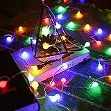 Fairy tale garland LED ball string light impermeable al aire libre bombilla LED luz fiesta / Navidad / jardín cadena de luz batería multicolor 2m10 leds
