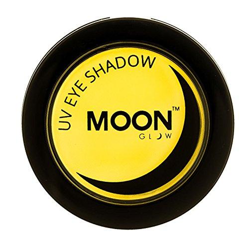 Moon Glow – Ombre à paupières néon UV 3.5g Jaune qui produisent un effet fluo incroyable sous la lumière ultraviolette ou noire !