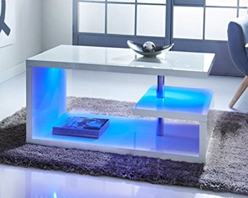 Scotrade New Alaska High Gloss Coffee Table - WHITE for a truly modern look.