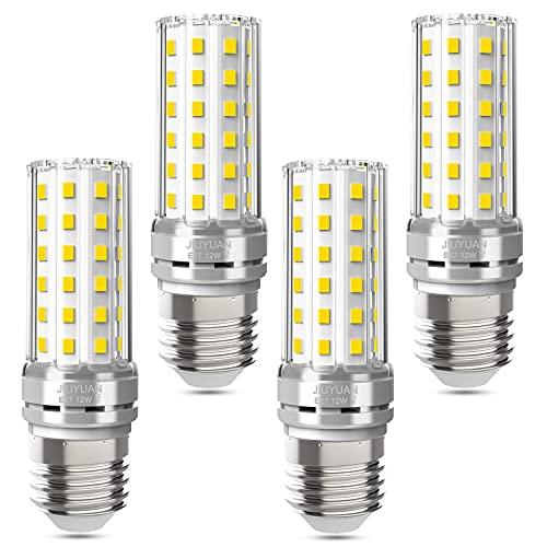 JIUYUAN Lampadina LED E27 12W 1450LM, 4000K Bianco Neutro Lampadine a LED di mais, E27 LED Lampadina 100W equivalenti a incandescenza, Non Dimmerabile-4 pezzi