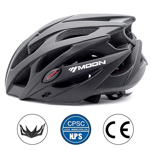 MOON Bike Helmets for Adults Lightweight 25 Vents Dial Fit System Removable Visor CPSC Certified Bicycle, Road Cycling Helmet Mountain Bike Helmets Bicycle Helmets for Men and Women