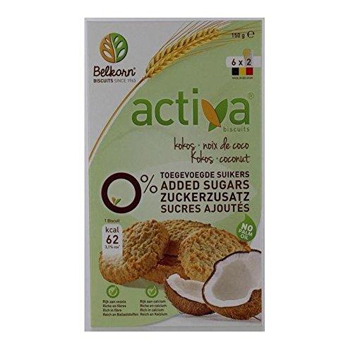 ACTIVA Sucre Les Cookies De Noix De Coco Libre 150G - Paquet de 6