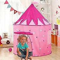 Carpa plegable, WER tienda campaña infantil para niños/ casa de juego en forma de castillo - Rosa