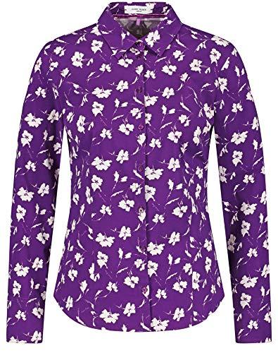 Gerry Weber Damen Hemdbluse mit floralem Muster figurumspielend, tailliert...