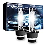 RCP D2S 6000K Xenon HID Replacement Bulb Diamond White Metal Stents Base 12V