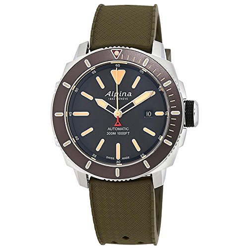 Alpina Men's Seastrong Diver 300 44mm Rubber Band Automatic Watch...