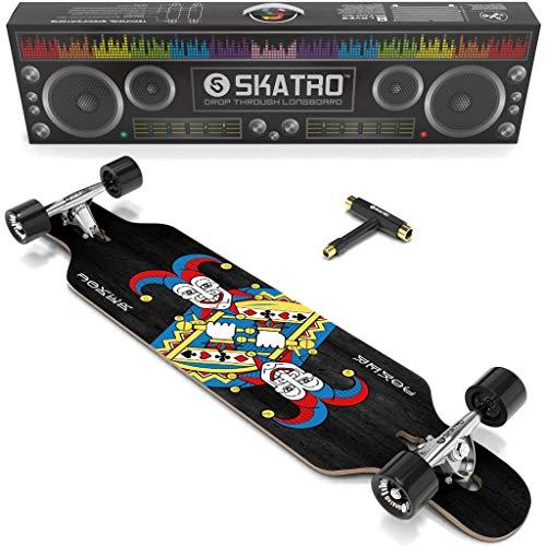 Skatro Drop Through Longboard Skateboard Freeride - inkl. T-Tool