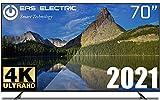 "EAS ELECTRIC | E70AN90J | Televisor Negro | Televisión 70 pulgadas | Smart TV 70"" | LED (DLED) | Ultra HD 4K 3840 x 2160 16:9 | DVB-T/T2/C/S/S2 HEVC | WiFi | Android TV | Google Cast | USB 2 | HDMI 3"
