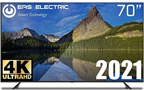 "EAS ELECTRIC   E70AN90J   Televisor Negro   Televisión 70 pulgadas   Smart TV 70""   LED (DLED)   Ultra HD 4K 3840 x 2160 16:9   DVB-T/T2/C/S/S2 HEVC   WiFi   Android TV   Google Cast   USB 2   HDMI 3"