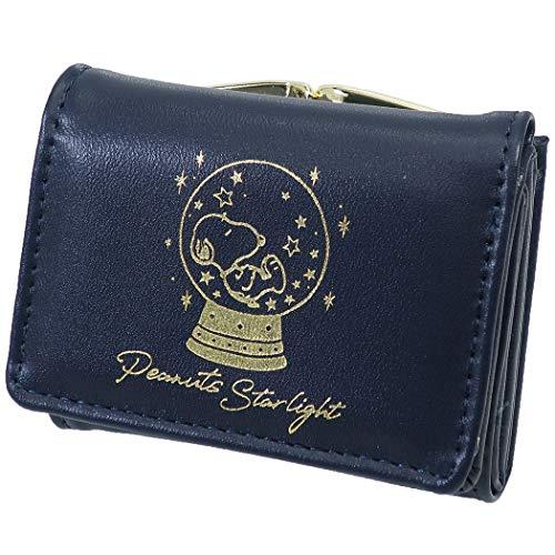 スヌーピー[コンパクト ウォレット]三つ折り財布/スヌードーム ネイビー ピーナッツ