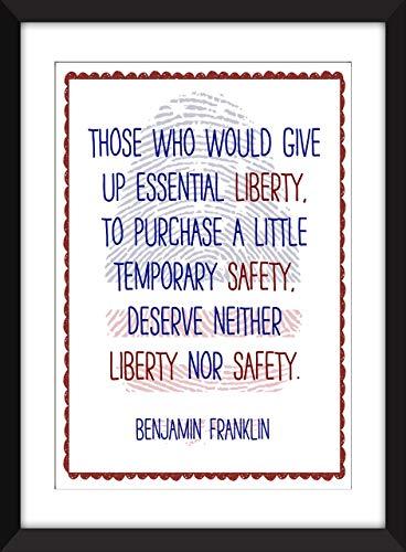 Benjamin Franklin auf Freiheits Ungerahmter Druck