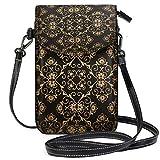 Monedero para teléfono Celular Crossbody Vintage Golden Roman Style Floral Small Crossbody Bag Monedero para teléfono Celular Monedero para Mujeres Niñas