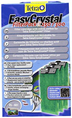 Tetra EasyCrystal Filter Pack C250/300 (Filtermaterial mit Aktiv-Kohle, Filterpads für EasyCrystal Innenfilter, geeignet für Aquarien von 30 Liter), 3 Stück