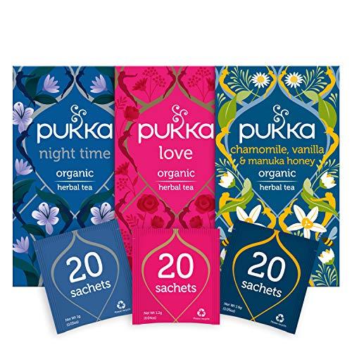 Pukka Thee Relax Bundel – 60 zakjes – 3 smaken x 20 zakjes