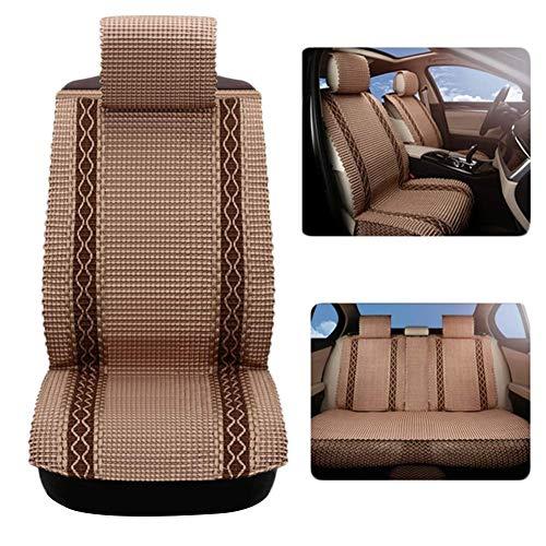 GJHK Funda para asiento interior de coche, protector de verano, transpirable, resistente al desgaste, para suministros de automóviles, poliéster, 6 piezas (color naranja)